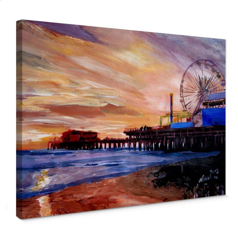 Leinwandbild Bleichner - Santa Monica Pier