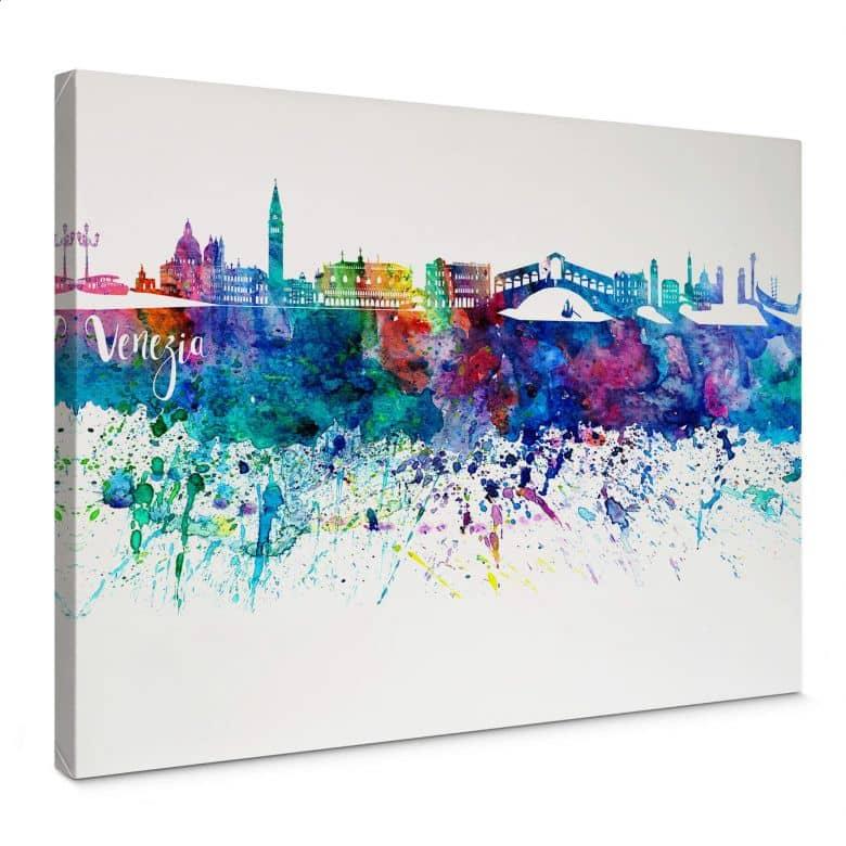 Canvas Bleichner - Venetië Aquarel