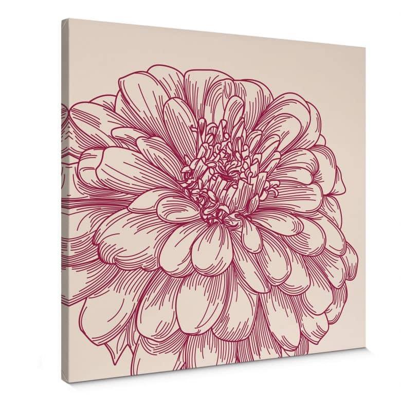 Leinwandbild Blüte Illustration