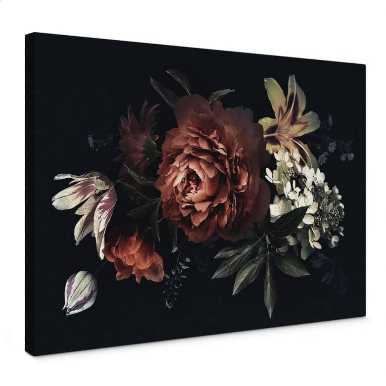 Leinwandbild  - Blumenbouquet Rot