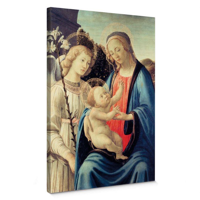 Leinwandbild Botticelli - Madonna mit Kind und einem Engel