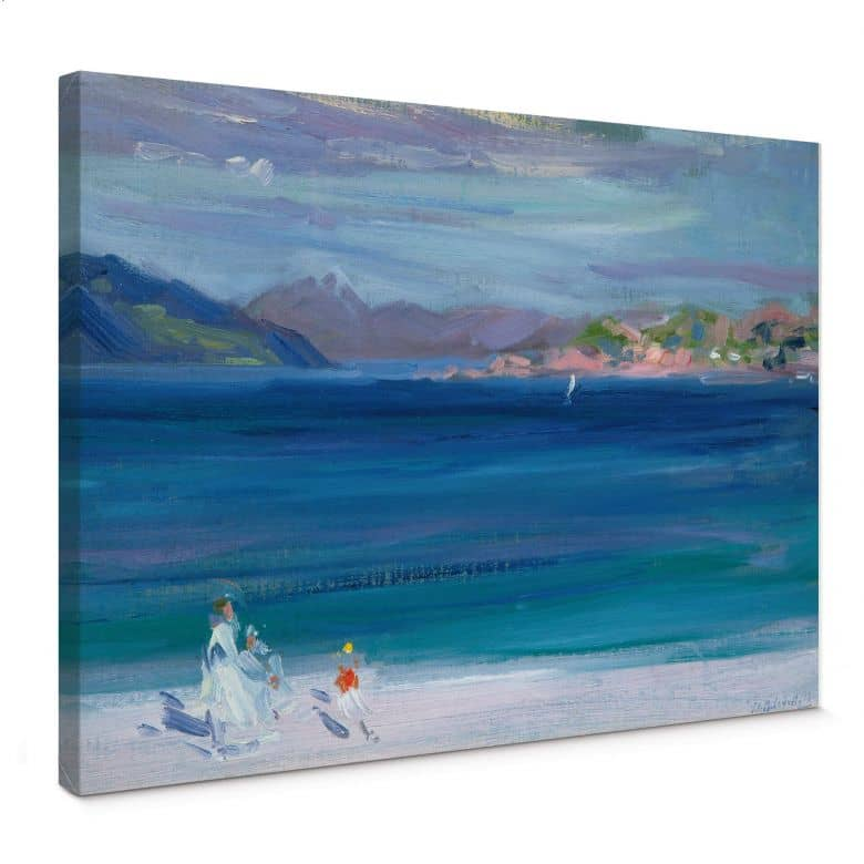 Canvas Francis Cadell - The Tale of Mull from Iona