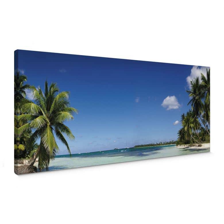 Leinwandbild Carribean Flair - Panorama