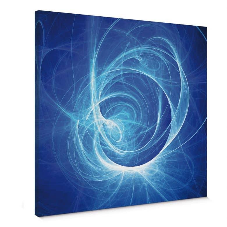 Chaos Ray blue Canvas print