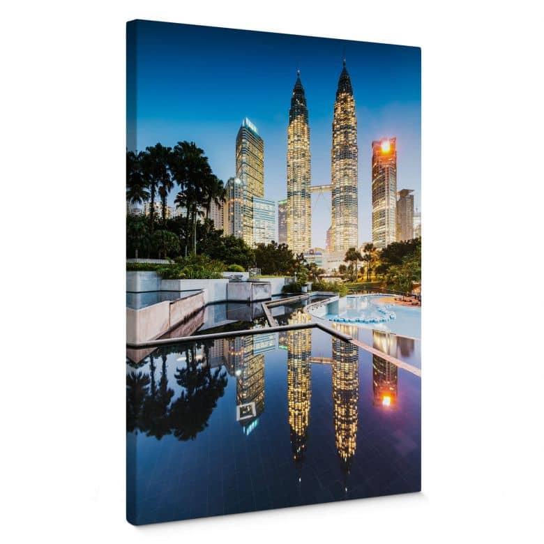 Leinwandbild Colombo - Petronas Towers bei Nacht