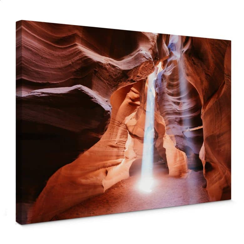 Leinwandbild Colombo - Sonnenstrahlen im Antelope Canyon