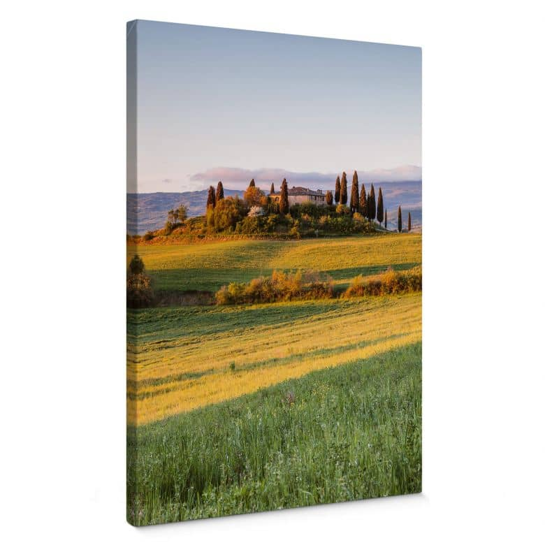 Canvas Colombo - Zonsondergang in Toscane