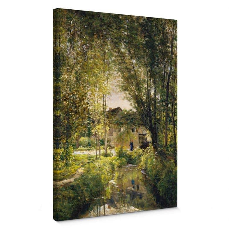 Tableau sur toile Daubigny - Paysage à la lumière