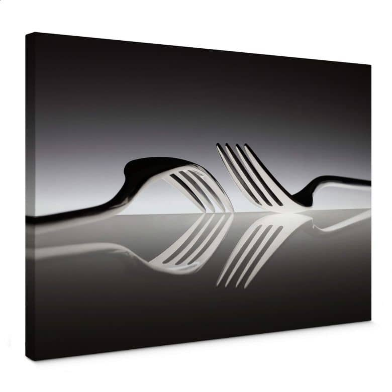 Leinwandbild De Kogel - Silverware Reflection