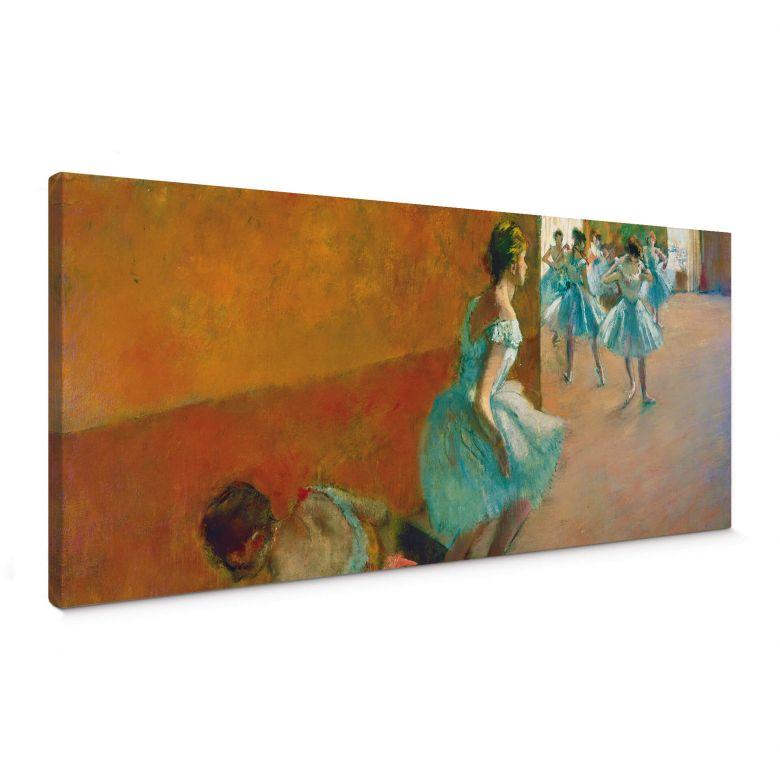 Tableau sur toile - Degas -Danseuses montant un escalier