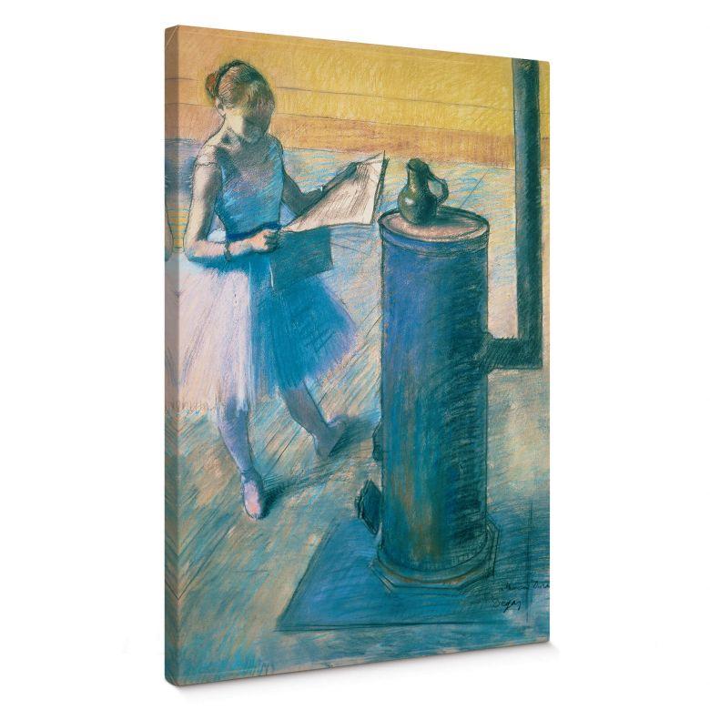 Leinwandbild Degas - Zeitunglesende Tänzerin