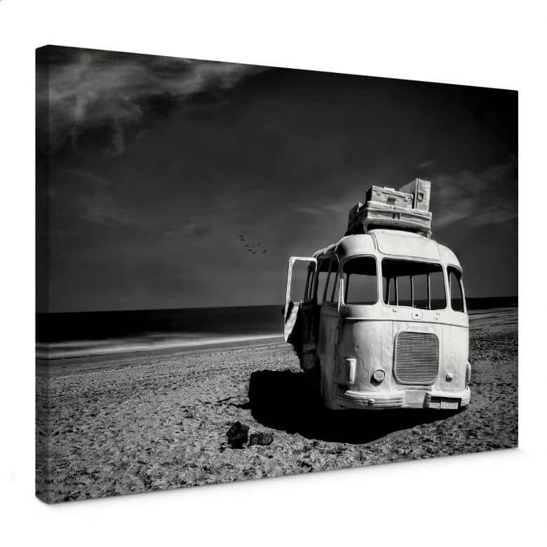 Leinwandbild Depaepe - Beached Bus