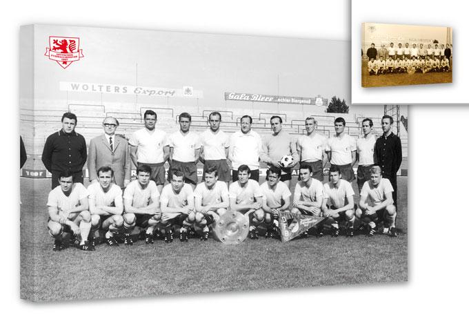 Leinwandbild Eintracht Braunschweig Meistermannsch