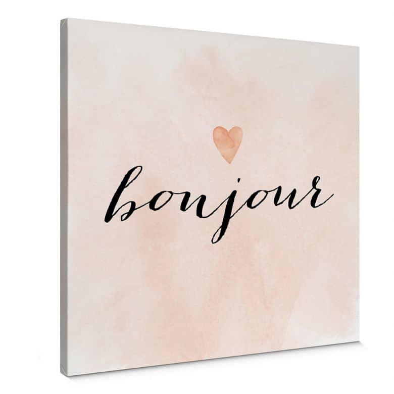 Leinwandbild Confetti & Cream - Bonjour