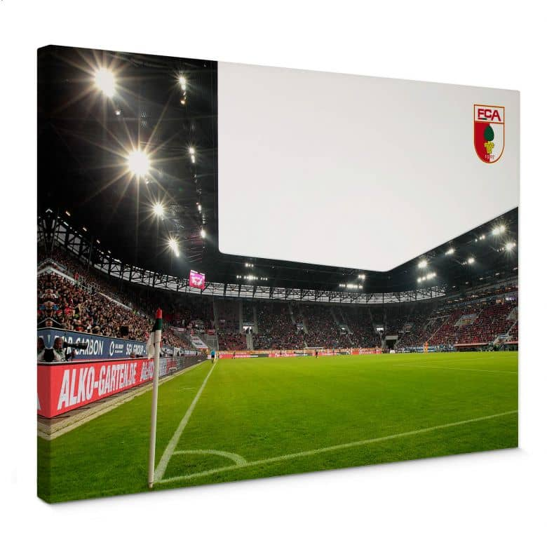 Leinwandbild FC Augsburg Stadion Eckfahne