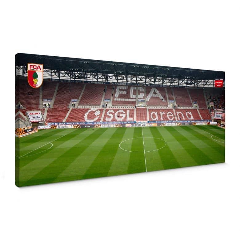 Leinwandbild FC Augsburg Stadion Tribüne Panorama