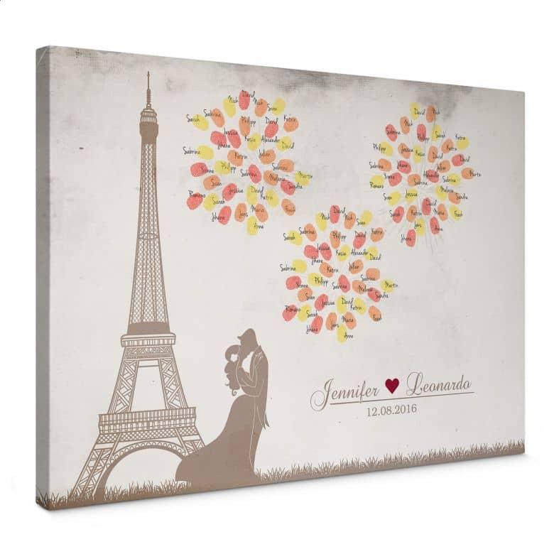 Fingerprint - Fireworks of Love Canvas print