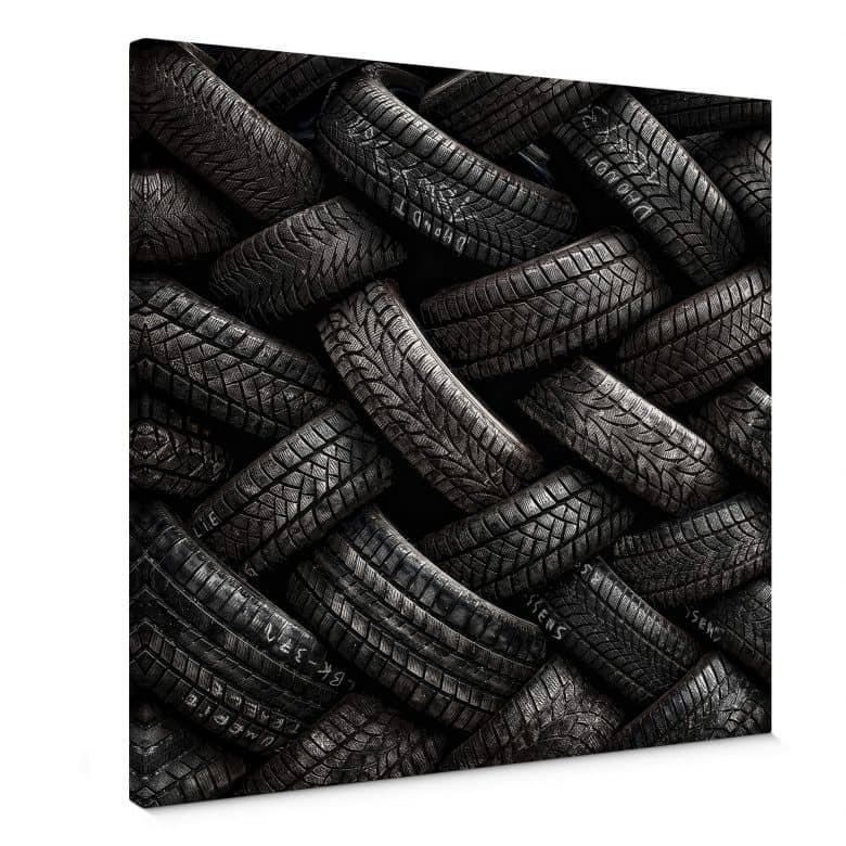 Leinwandbild Flour - Reifen