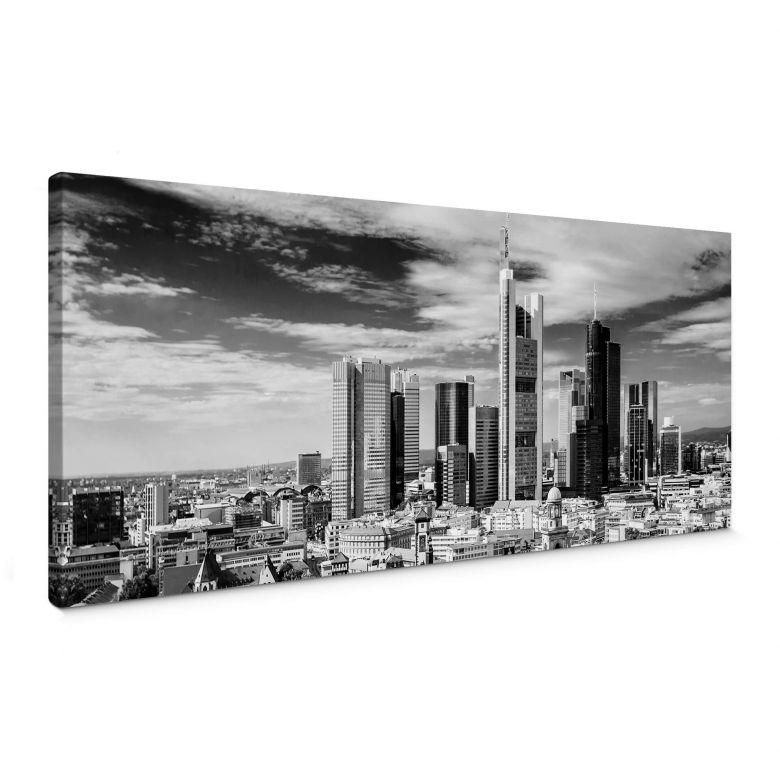 Leinwandbild Frankfurter Skyline - Panorama