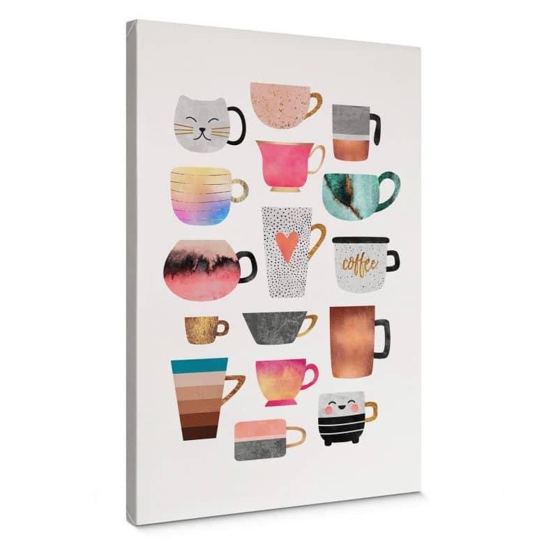 Leinwandbild Fredriksson - Kaffeetassen: Buntes Allerlei