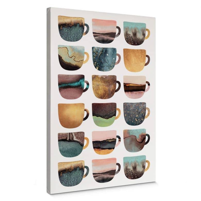Leinwandbild Fredriksson - Kaffeetassen: Pretty Nature