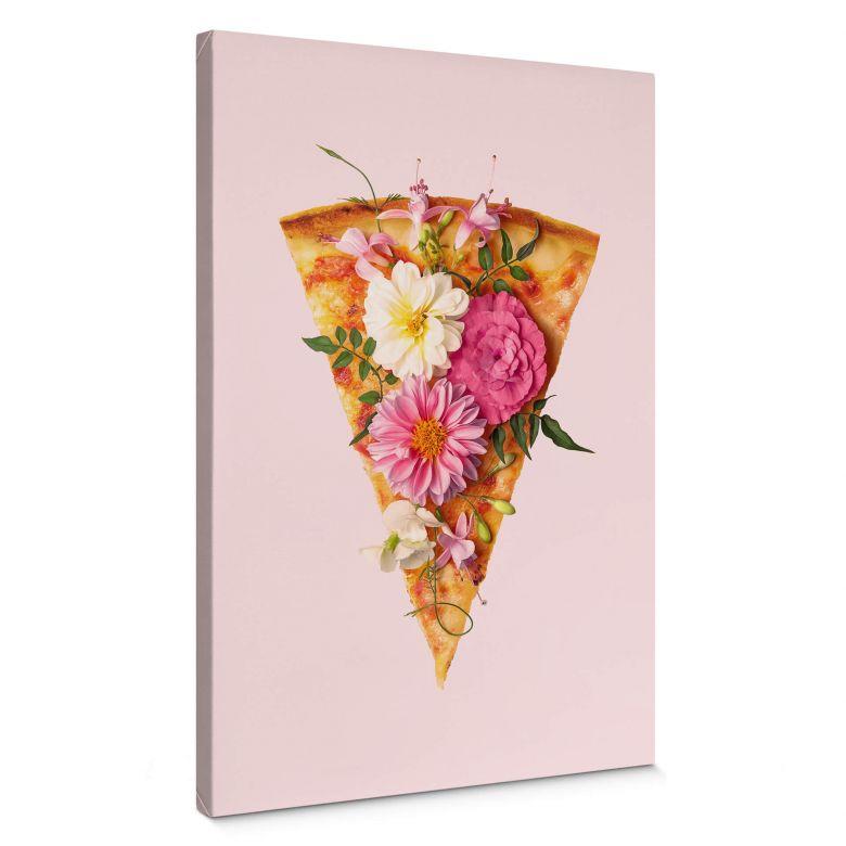 Tableau sur toile Fuentes - Pizza et fleurs