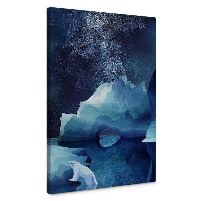 Leinwandbild Goed Blauw - Der Polarbär