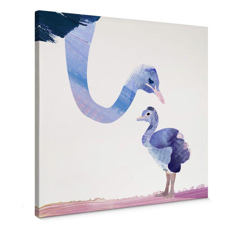 Leinwandbild Goed Blauw - Federliebe