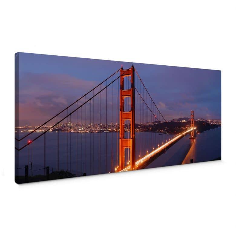 Leinwandbild Golden Gate Bridge - Panorama
