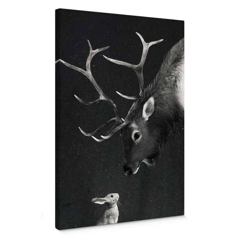 Canvas print Graves - Deer and Rabbit