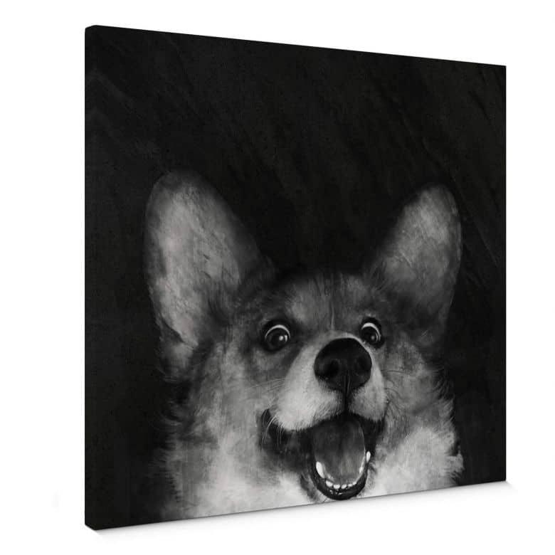 Leinwandbild Graves - Sausage Fox Corgi
