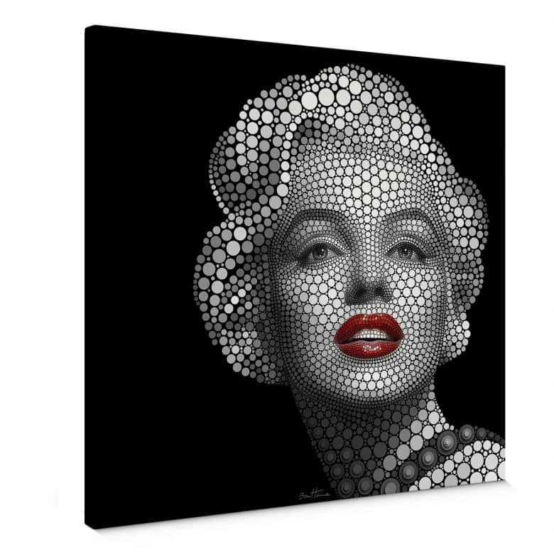 Canvas Ben Heine - Circlism: Marilyn Monroe