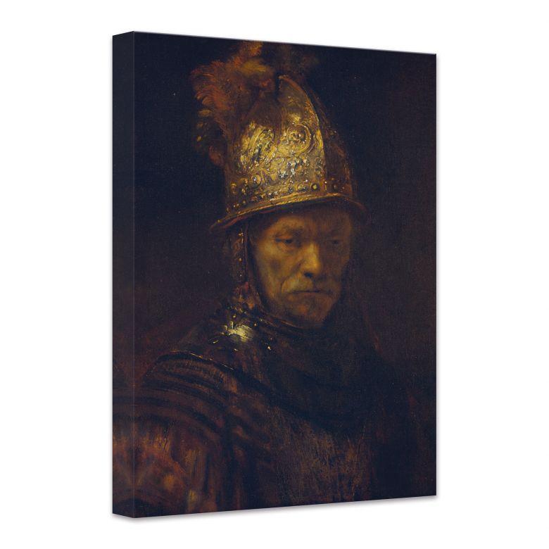 Leinwandbild Rembrandt - Der Mann mit dem Goldhelm
