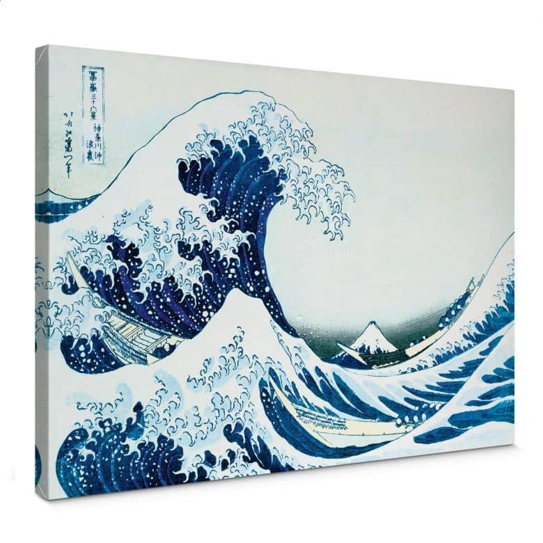 Leinwandbild Hokusai - Die große Welle von Kanagawa