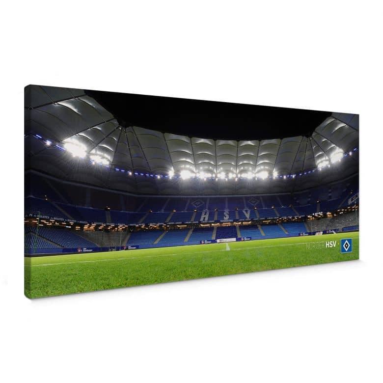 Leinwandbild HSV Arena Nacht - Panorama