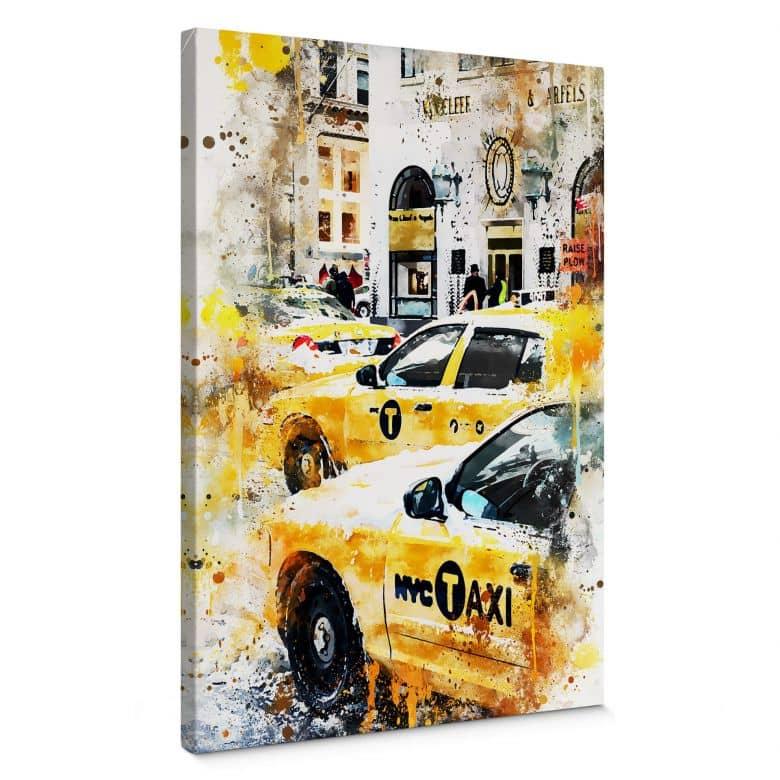 Leinwandbild Hugonnard - Watercolour: New York Cabs
