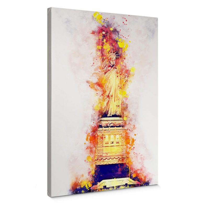 Leinwandbild Hugonnard - Watercolour: Statue of Liberty