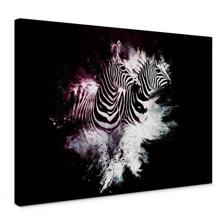 Leinwandbild Hugonnard - Wild Explosion: Zwei Zebras