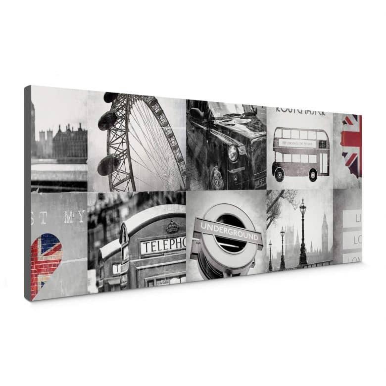 Leinwandbild Impressions of London - Panorama