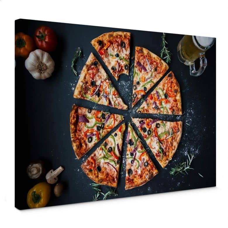 Leinwandbild Italienische Pizza