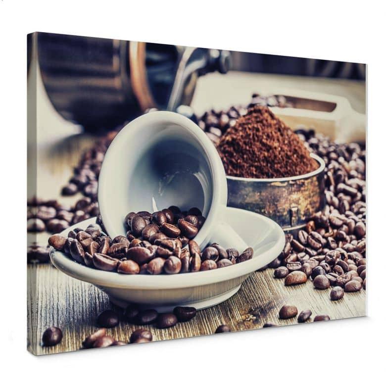 Leinwandbild Kaffeeträume