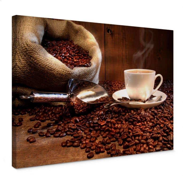 Coffee pleasure Canvas print