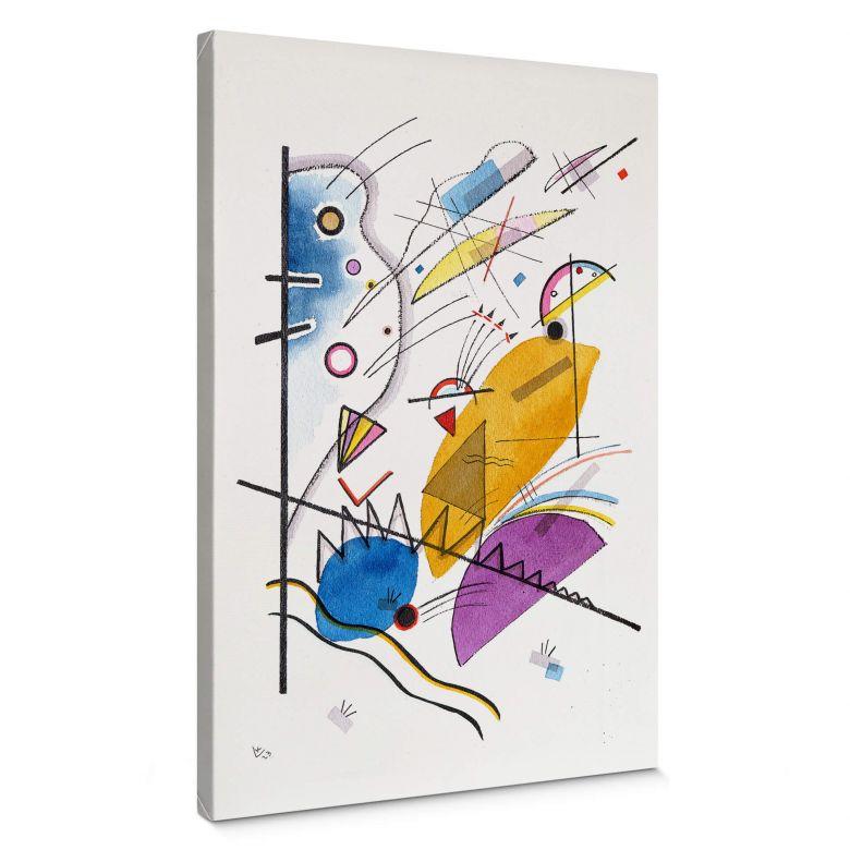 Canvas Print Kandinsky Ongoing Stripe
