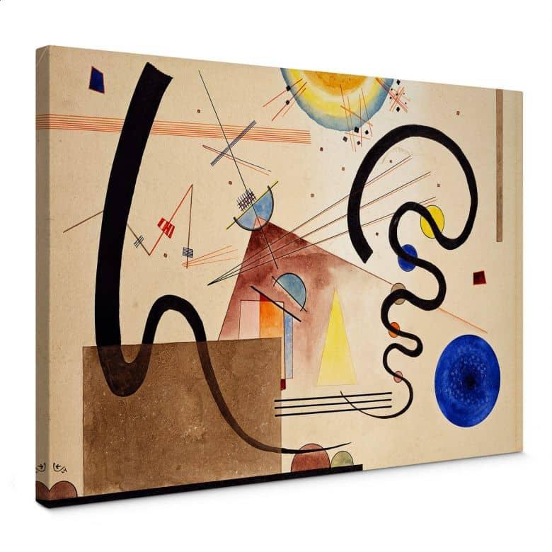 Canvas Print Kandinsky - Two Movements