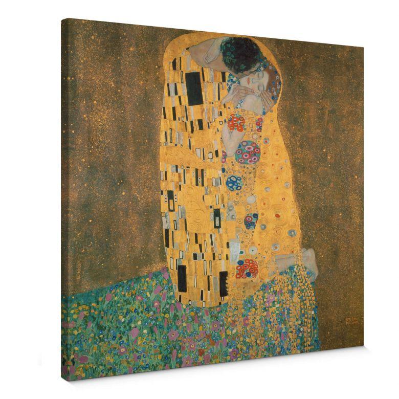 Leinwandbild Klimt - Der Kuss