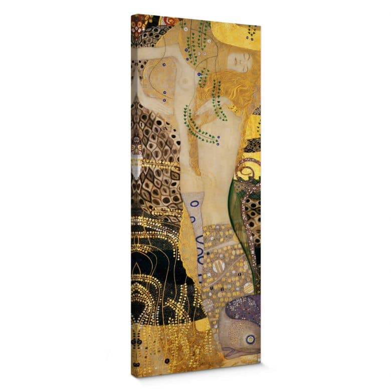 Leinwandbild Klimt - Wasserschlangen I.