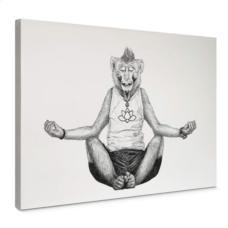 Leinwandbild Kools - Monkey Yoga