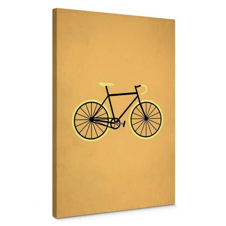 Leinwandbild Kubistika - Fahrrad Liebe