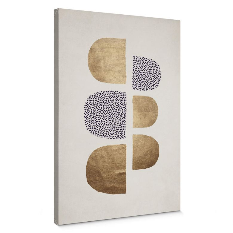 Canvas Print Kubistika - Golden Geometrica