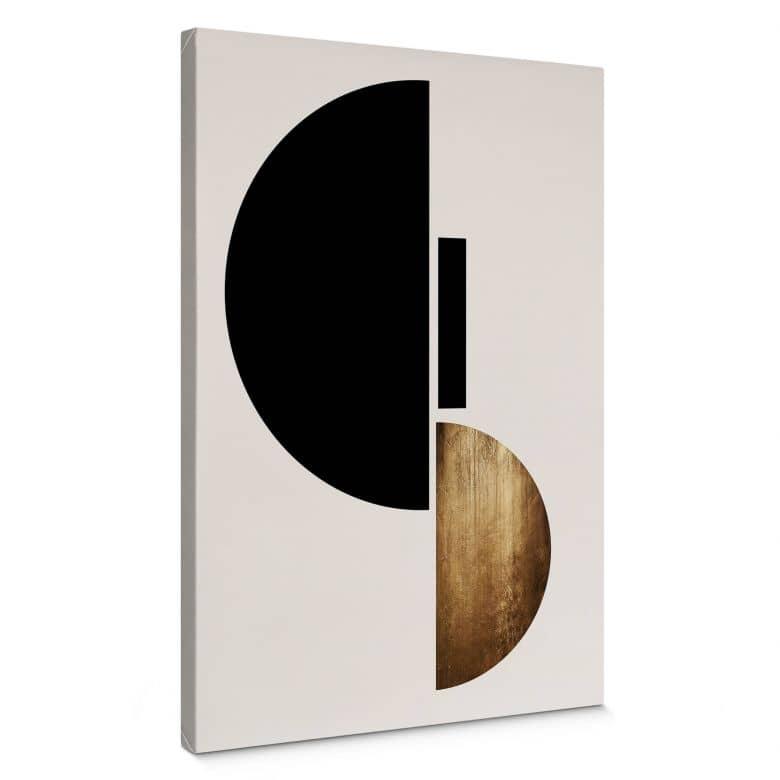 Leinwandbild Kubistika - Goldenes Gepräge